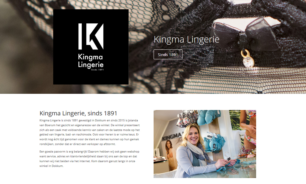 Ook Kingma Lingerie kiest voor DOKcom