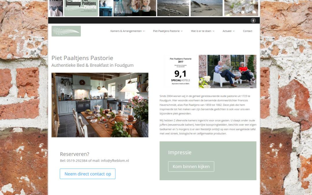 Website Piet Paaltjens Pastorie duidelijk gemaakt