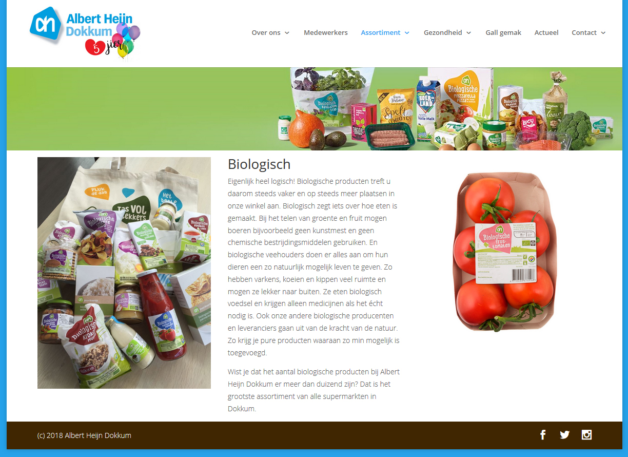 Website Albert Heijn Dokkum