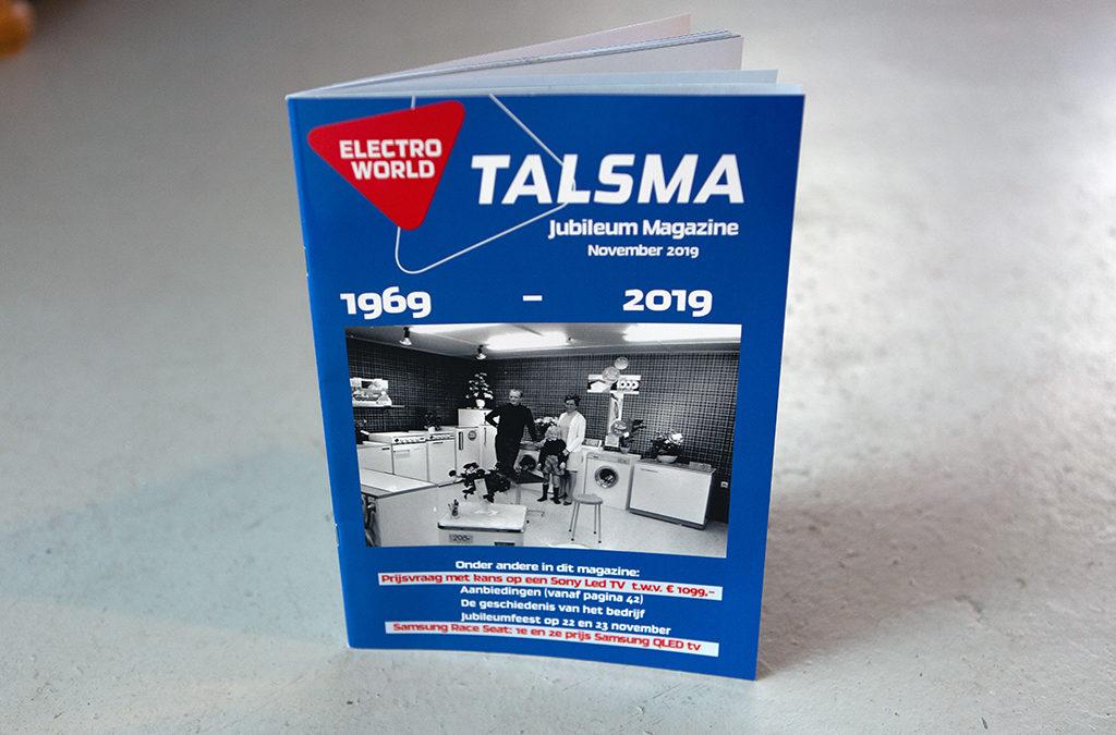 Jubileummagazine voor Electroworld Talsma